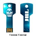 "Clef USB format ""clé de porte"" bleu"