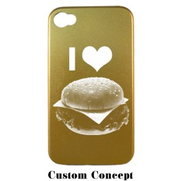 Coque de protection iPhone 4/4S en aluminium or