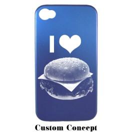 Coque de protection iPhone 4/4S en aluminium bleu