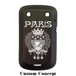 Coque de protection BlackBerry Bold 9900 aluminium noir