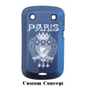 Coque de protection BlackBerry Bold 9900 aluminium bleu