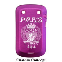 Coque de protection BlackBerry Bold 9900 aluminium fuschia