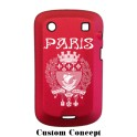 Coque de protection BlackBerry Bold 9900 aluminium rouge
