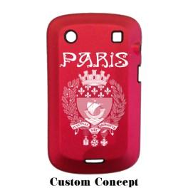 Coque de protection BlackBerry Bold 9900 aluminium rouge