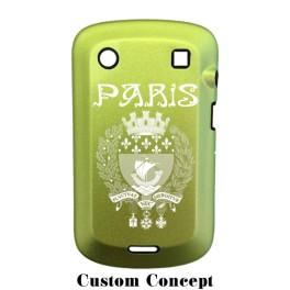 Coque de protection BlackBerry Bold 9900 aluminium vert