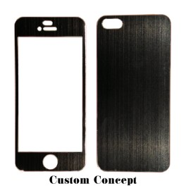 Skin de protection iPhone 5 aluminium noir