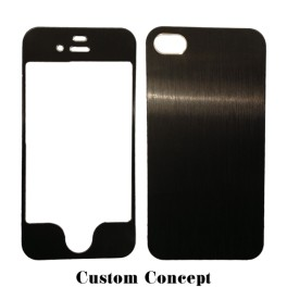 Skin de protection iPhone 4/4S aluminium noir