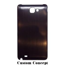 Dos de remplacement pour Samsung Galaxy Note 1 aluminium noir